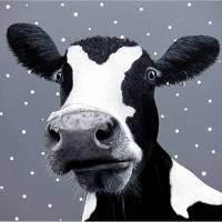 Kuhfrosch, Leinwanddruck, Kuhbild, Frosch, Froschbild, Bauernhof Bild, Froschkönig, witziges Bild, Wohnzimmer Bild, Frosch Bild, Kuh Bild Bild 1