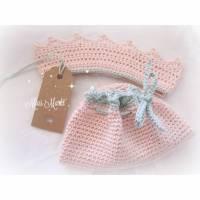 Für kleine Prinzessinnen | KRÖNCHEN mit POMPADOUR _ gehäkelt  Bild 1