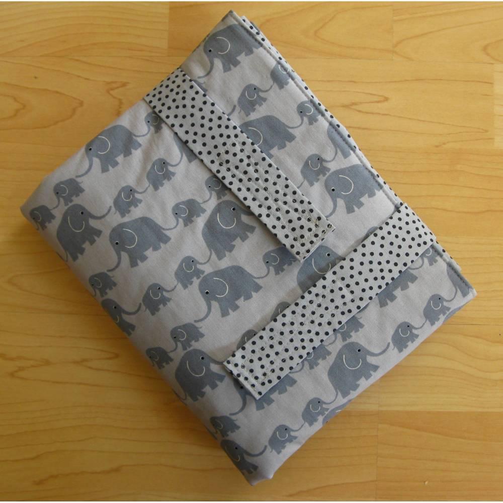 Wickelunterlage - Wickel-mobil - Elefanten - mit Frottee-Liegefläche - auf Wunsch wasserdicht Bild 1