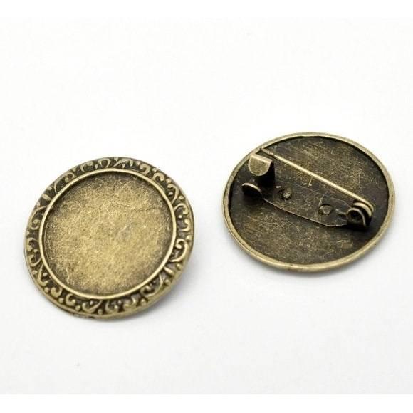 2 Broschennadeln  ,Broschen, Nadeln Anstecknadel, bronze,  26 mm , 17332 Bild 1