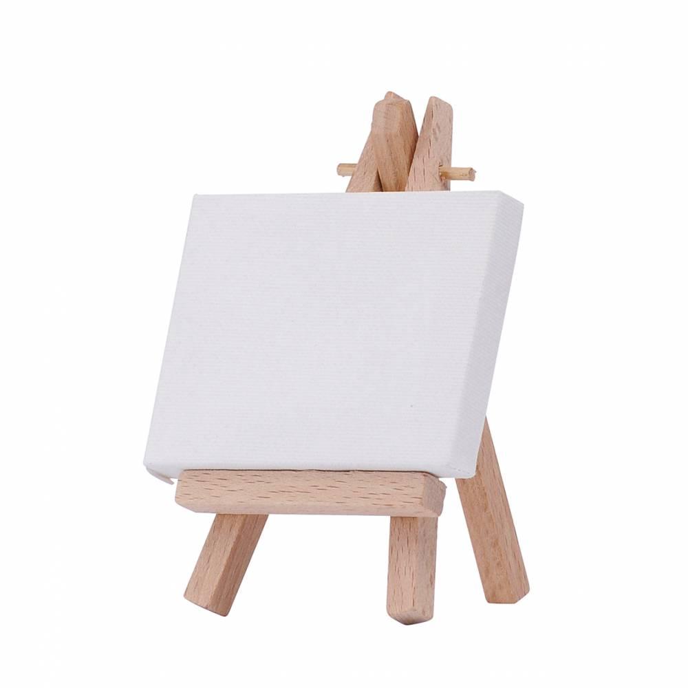 Marabu Mini-Staffelei mit Mini-Keilrahmen 6 x 8 x 1 cm Bild 1