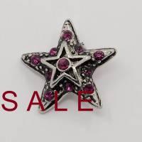 SALE! Druckknopf, Button, Druckknopfbutton,Gr. L, Strass, Stern,  25mm  statt 8,99 Euro jetzt 4,99 Euro Bild 1