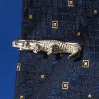 """""""Krokodil"""" Krawattenklammer , witziges Herren-Accessoires  – der eyecatcher, in 925 Silber, ein Geschenk von bleibendem Wert. Bild 2"""
