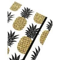 "Notizbuch Rezeptbuch ""Pineapple"" A5 Hardcover stoffbezogen Stoff Ananas Küche Kochen Hobbykoch Rezepte Geschenk Bild 1"