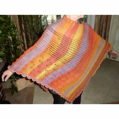 Poncho / Überwurf / Cover Up / Sommerponcho / Mustermix / Onesize