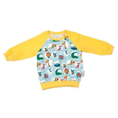 """Pullover Shirt Langarmshirt Jungen Mädchen Unisex """"Bunte Dschungelbande"""" Geschenk Geburt Gr. 56 62 68 74 80 86.."""