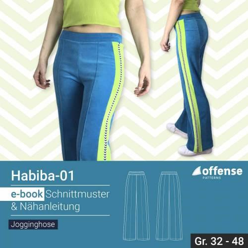 """Damen Jazzpants/Jogginghose """"Habiba-01"""" in Größe 32-48 - Schnittmuster + Schritt-für-Schritt Nähanleitung"""