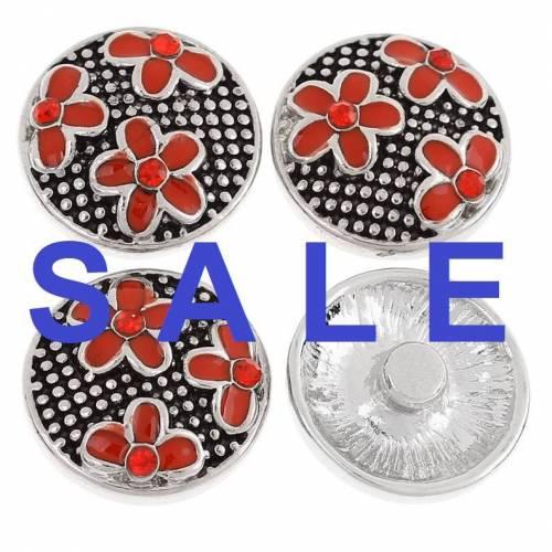 SALE! Druckknopf,  Button, Druckknopfbutton,Gr. L, Metall, Emaille mit Strass, statt 4,99 Euro jetzt 1,99 Euro