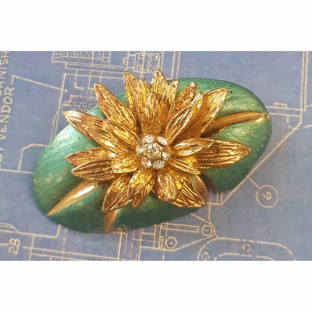 Vintage Brosche Blumen Bild 1