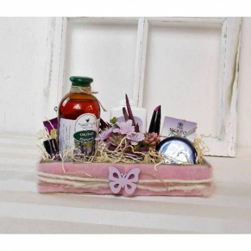 Wellness Geschenk, Rosmarin und Lavendel, Wellness Set, Geschenk Set, mit kleinem Gesteck, Set 3