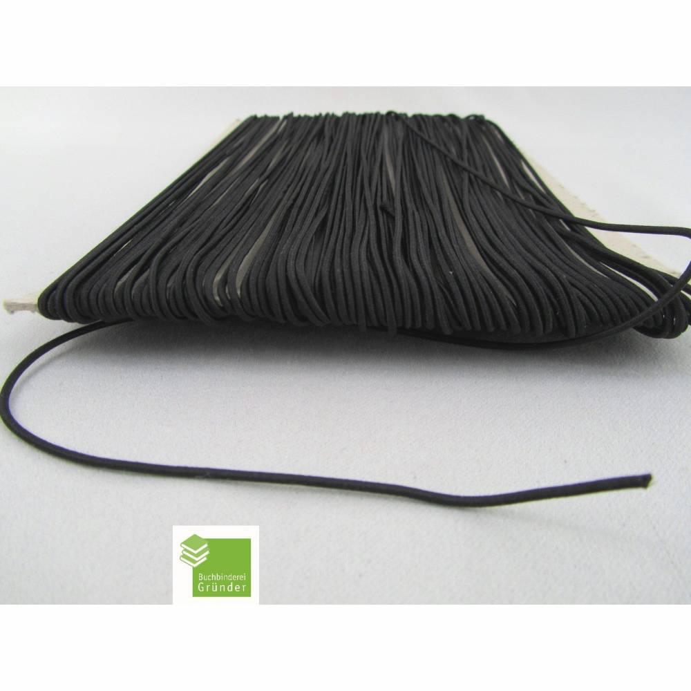 5 m Gummischnur, schwarz, 1,5 mm, rund, Gummikordel, Mappengummi, Bastelmaterial Bild 1