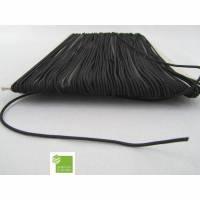 5 m Gummischnur, schwarz, 1,5 mm, rund, Gummikordel, Mappengummi, Bastelmaterial
