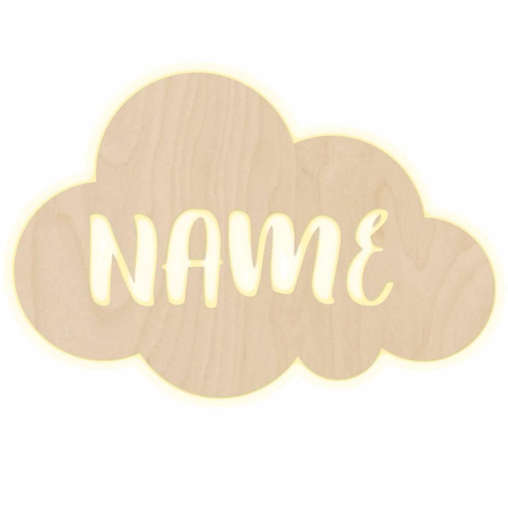 """Wandlampe """"Wolke"""" Kinderzimmer personalisierte Lampe mit Namen Nachtlicht Leuchte Wandleuchte Dekoration Jungen Mädchen Baby Schlummerlicht Bild 1"""