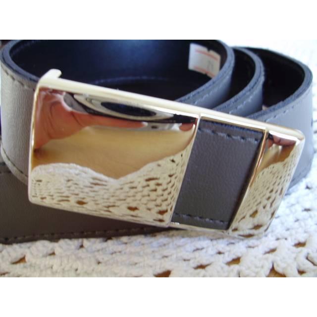 Vintage♥Kunstedergürtel♥in olivgrün♥mit silberfarbener Schnalle♥aus den 80er Jahren♥  Bild 1