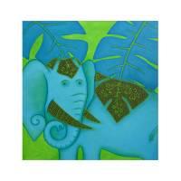 SONDERPREIS!! Elefant, Bild, Gemälde, Bilder, Dickhäuter, Elefantenbild, Bild Elefant, indischer Elefant, afrikanischer Elefant, orientalisches Bild Bild 1