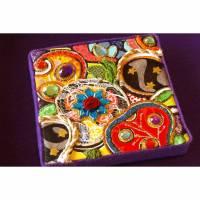 opulente gipsy boho collage kunst geschenk personalisierbar glitzer bild opulent mixed media Bild 1