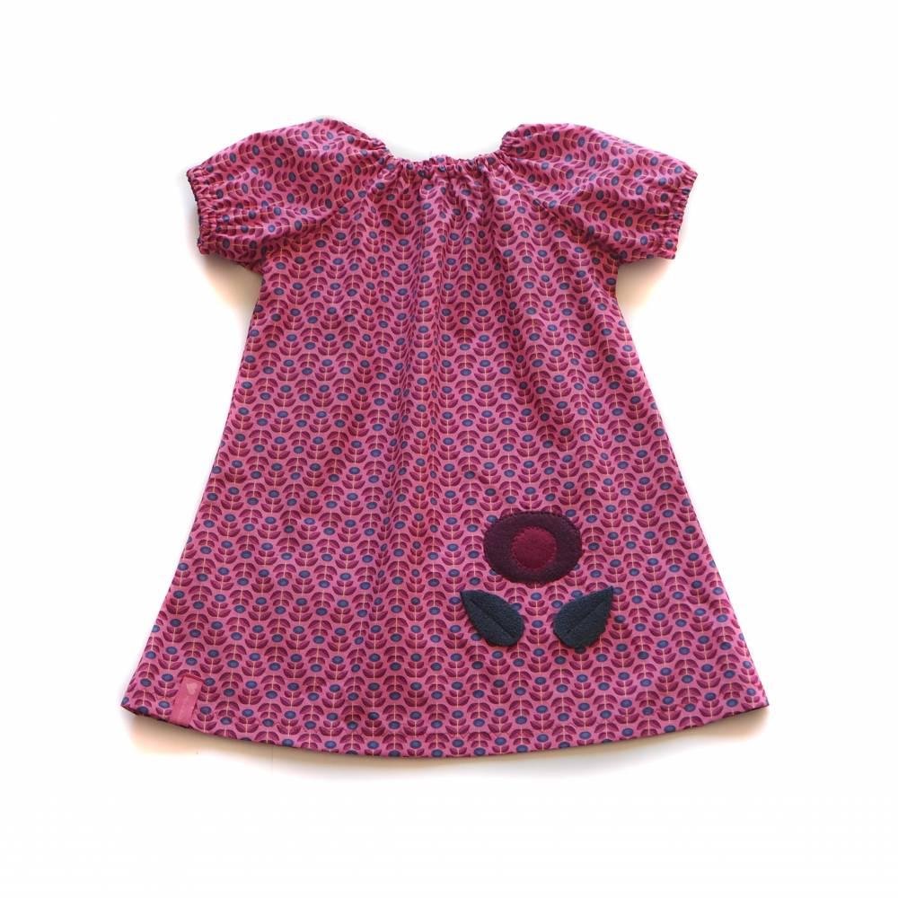 Kleid Madchen Retro Blumen Pink Fruhling Sommer
