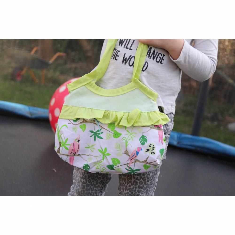 Kleine, einfache Mädchentasche Papagei Bild 1