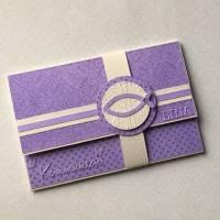 Geldgeschenkkarte , Gutscheinkarte, Glückwunschkarte Kommunion Bild 1