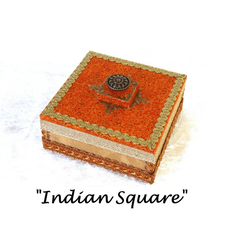 kunst schmuck box indisches design unikat holz schmuckaufbewahrung schmuckkasten boho indisch ethno schmuckschatulle Bild 1