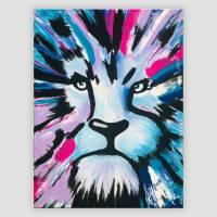 Löwe handgemalt - Einzelstück Bild 1