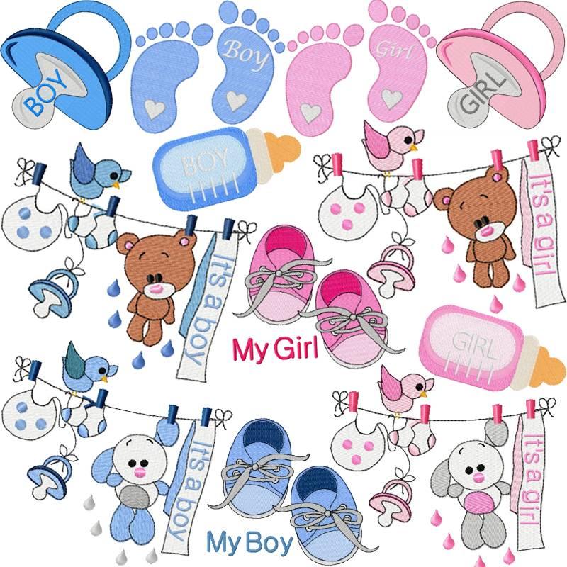Stickdatei Baby Bild 1