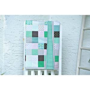 Patchworkdecke 100x140 - Exklusive Picknickdecke im Patchworkdesign