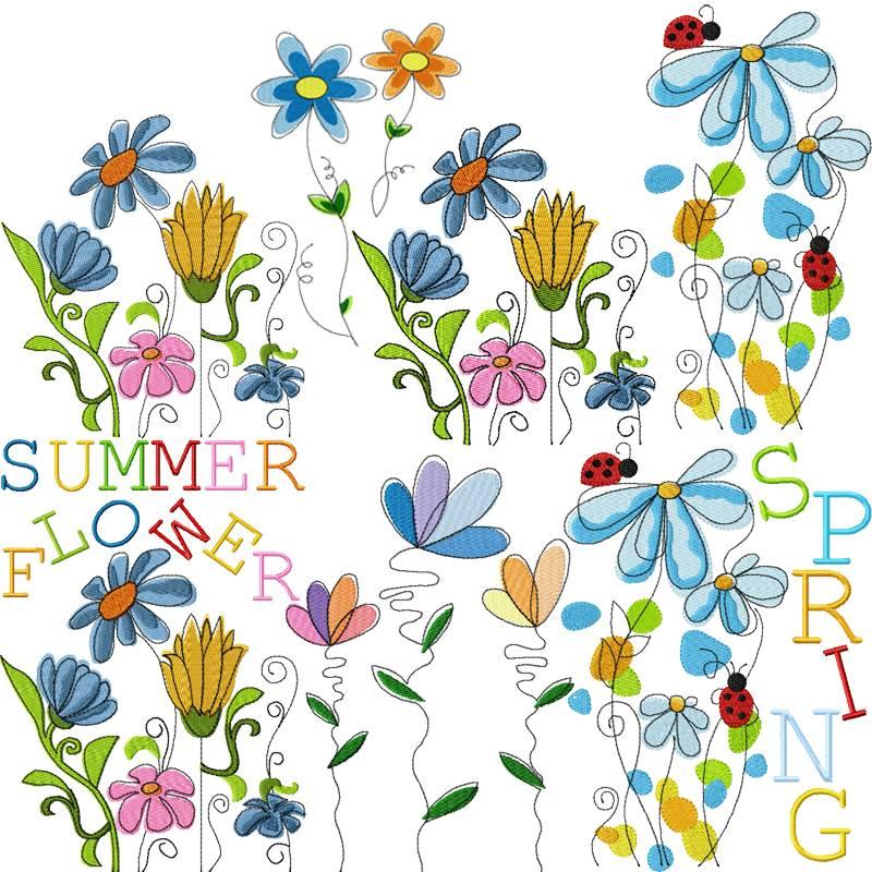 Stickdateien Sommer Bild 1