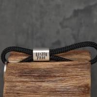 Personalisierter Schlüsselanhänger aus Segeltau handgestempelt | Sylt | Maritim | Meer | Insel Bild 2