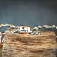 Personalisierter Schlüsselanhänger aus Segeltau handgestempelt | Sylt | Maritim | Meer | Insel Bild 3