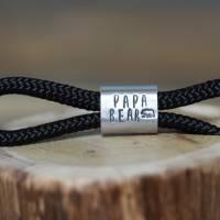 Personalisierter Schlüsselanhänger aus Segeltau handgestempelt | Sylt | Maritim | Meer | Insel Bild 4
