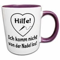 Nähen Tasse, Frau Nähen Geschenk, Nähen Spruch Lustig, Süchtig nach Nähen, Handarbeit, Kaffeetasse, Teetasse Bild 1