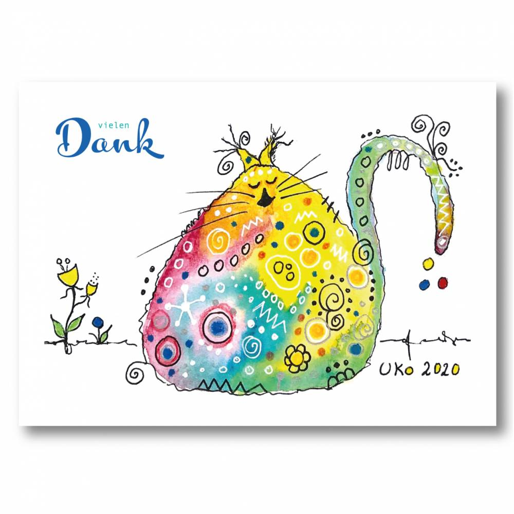 Süße Postkarte zum Danke sagen Bild 1