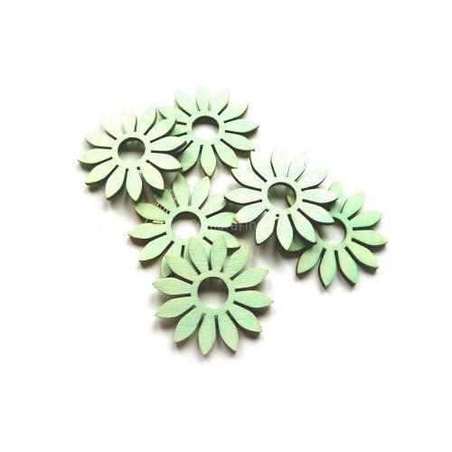 Blumen, Holzblumen, Wohndekoration, mint
