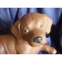 Schokobrauner Labrador,Keramikfigur,Hund,Deco,Welpe Bild 1