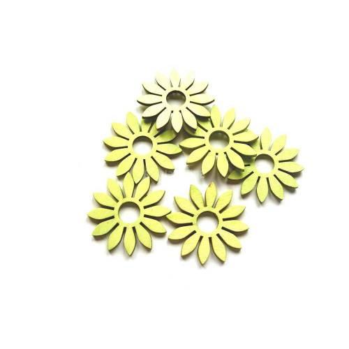 Blumen, Holzblumen, Wohndekoration, pastelgrün