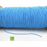 10 m Gummischnur, hell-blau, 1,5 mm, rund, Gummikordel, Mappengummi