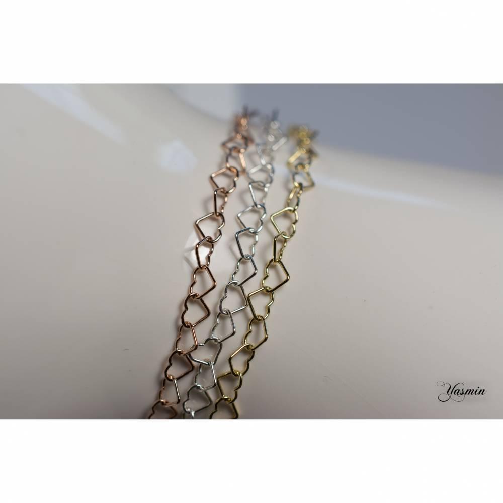 Herzchenarmband Sterling - wähle Dein Wunschfinish Bild 1