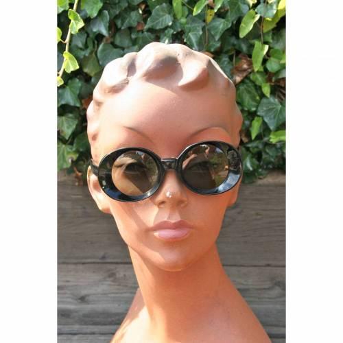 Vintage Sonnenbrille schwarz 40er Jahre