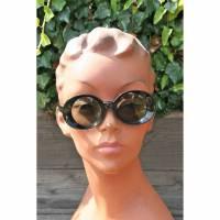 Vintage Sonnenbrille schwarz 40er Jahre Bild 1