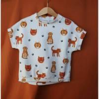 aCaso kurzarm T-Shirt aus weichem BIO Jersey mit Raubtier Print von Lillestoff Bild 1