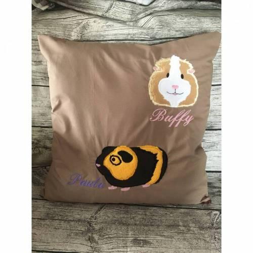 ★ Kissenbezug für 50x50 cm Kissen, Meerschweinchen, freie Farbwahl ☆