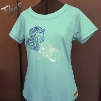 Raglan T-Shirt in Gr. 42 für Damen in mint Bild 1
