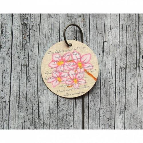 Blumenstecker **Poesie7** von ZWEIFARBIG 5cm Obstblüte Blumenschmuck Hochzeitstag homedeko Geburtstag Geschenk Muttertag Dekoration Wohndeko Tischdekoration