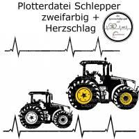 Plotterdatei Traktor Trekker Schlepper Bulldog Jungen Herzschlag Bild 1