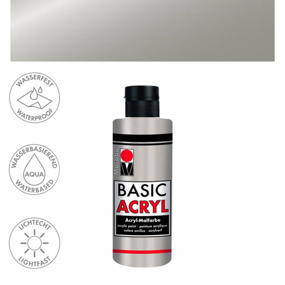 Acrylfarbe 80ml, Silber Bild 1