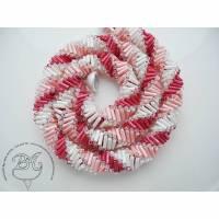 Collier Rosa Weiß Rot auffallend schön Bild 1