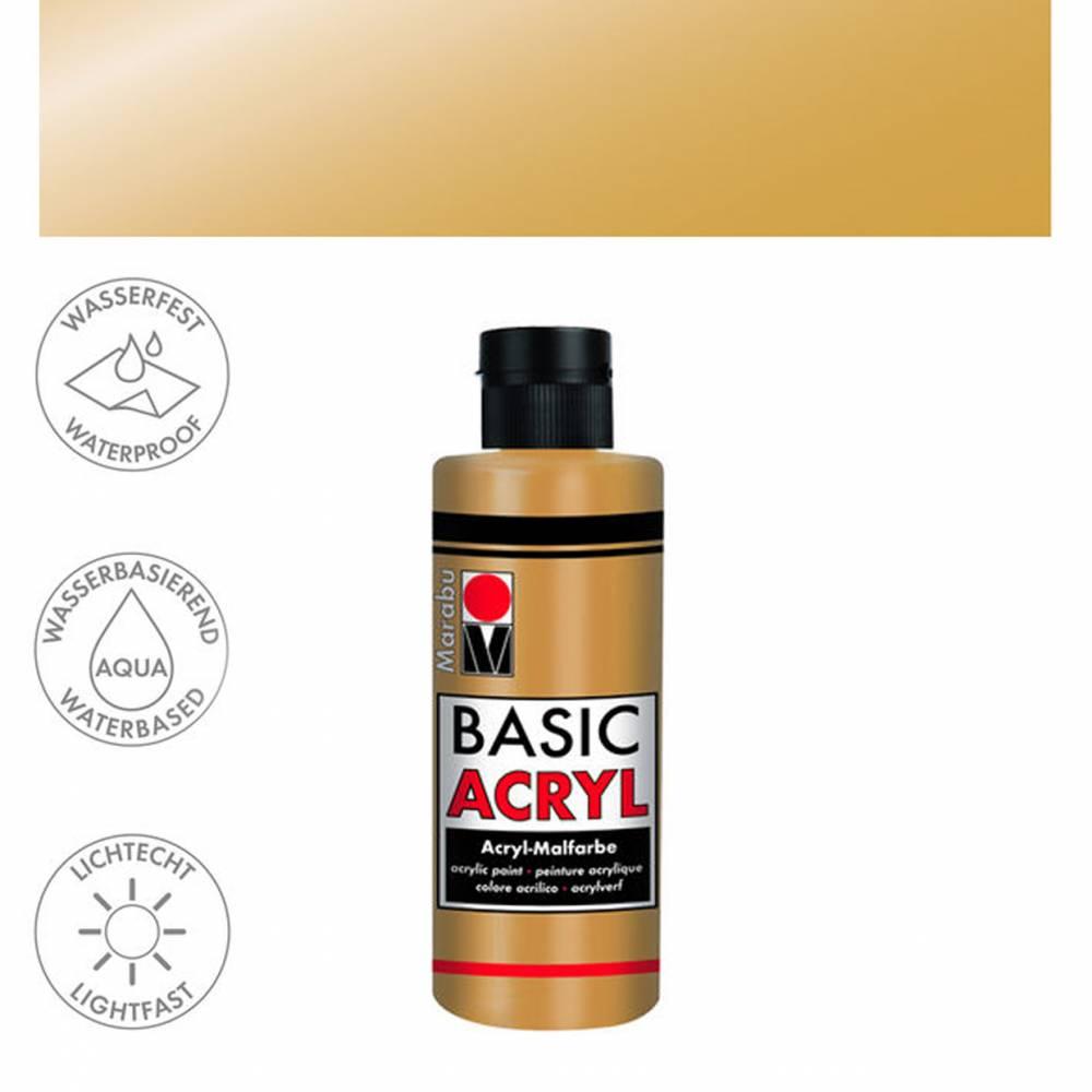 Acrylfarbe 80ml, Gold Bild 1