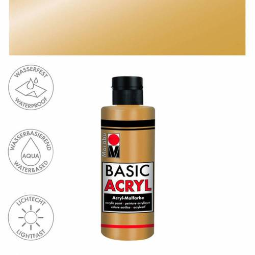 Acrylfarbe 80ml, Gold