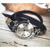 Armbanduhr,Wickeluhr, Damenuhr, Kunstleder, Slider, Farbauswahl Bild 1